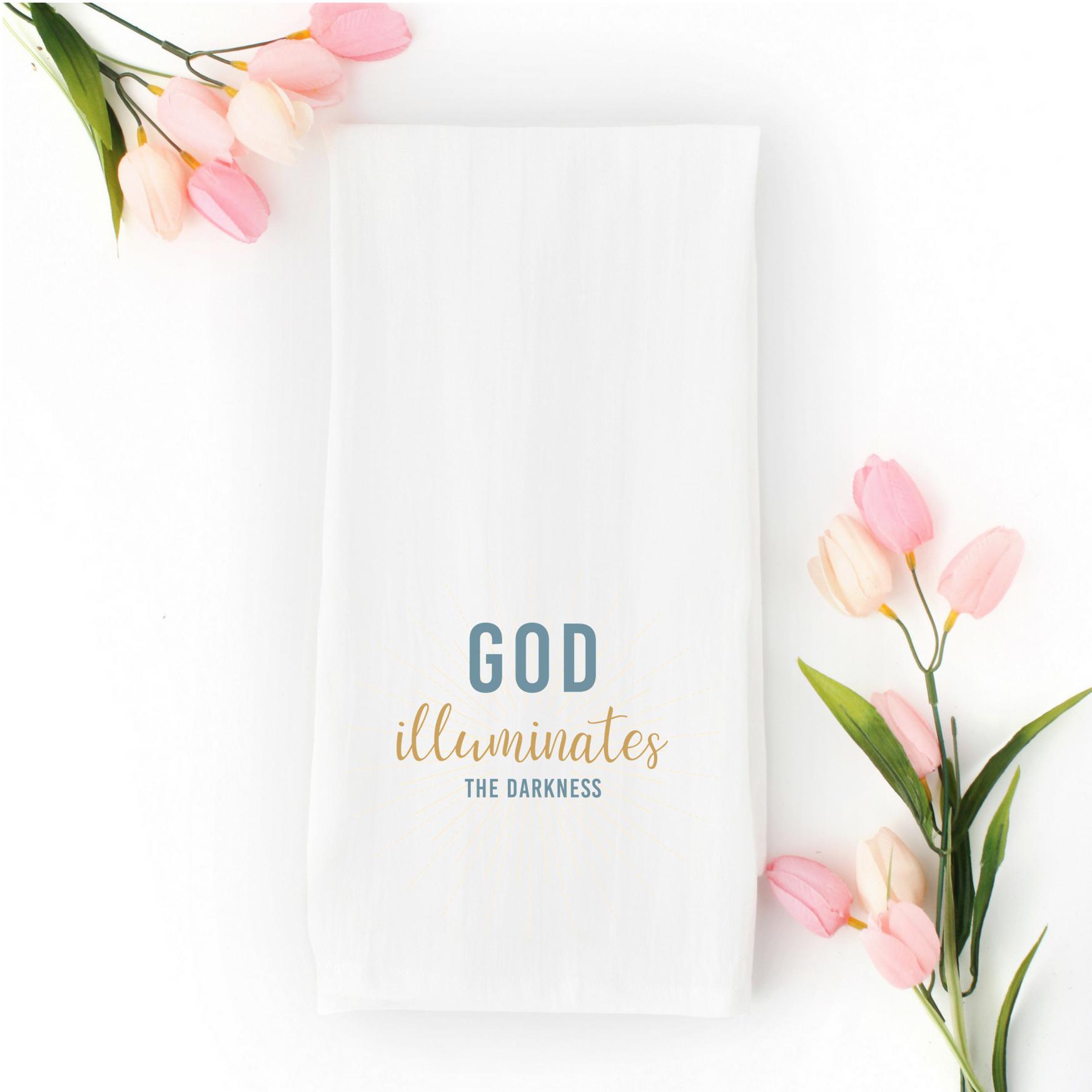 Inspirational Flour Sack Tea Towel | Christian Home Decor ...